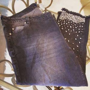 Denim 24/7 Exclusive Plus Size Jeans Rhinestones